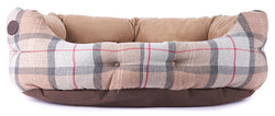Barbour Luxury Bed in Taupe & Pink Tartan 30""