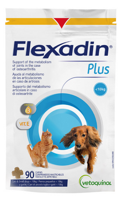 Flexadin Plus Joint Supplement Chew for Cats & Dogs Small Dogs & Cats - 90 Tablets