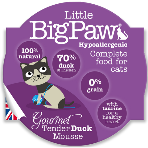 Little Big Paw Gourmet Tender Duck Mousse Cat Food 85g x 8