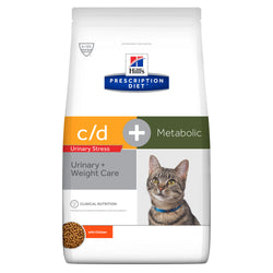 Hills Prescription Diet CD Urinary Stress + Metabolic Dry Cat Food Chicken 1.5kg