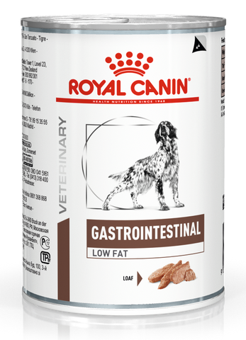 Royal Canin Veterinary Gastro Intestinal Low Fat Dog Food Cans 410g x 12