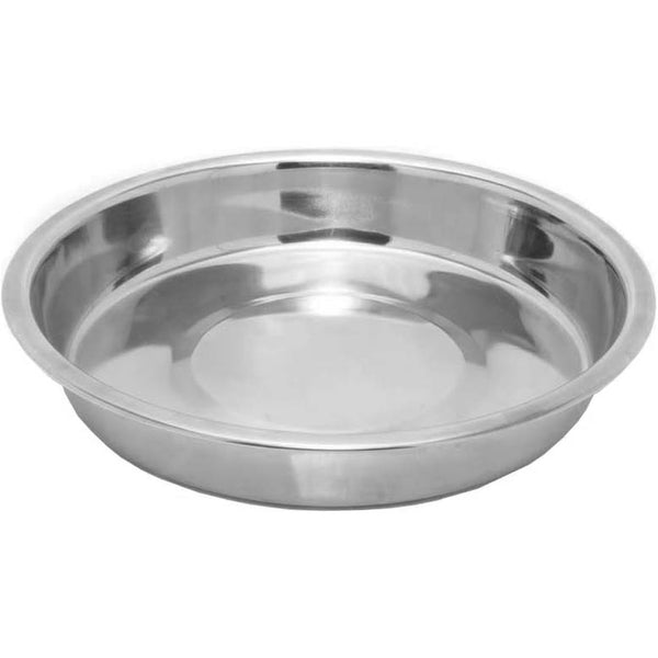 Rosewood Stainless Steel Shallow Puppy Pan Dog Bowl 6""