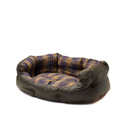 Barbour Wax Cotton Dog Bed in Classic Olive 30""