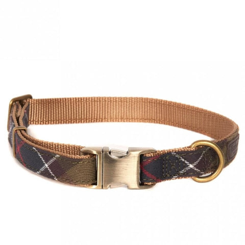 Barbour Classic Tartan Webbing Dog Collar Large