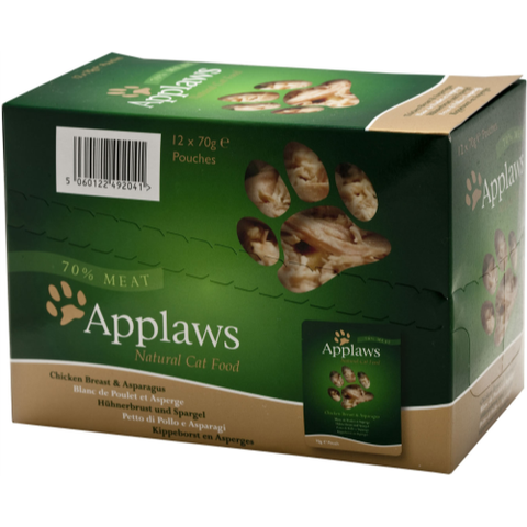 Applaws Chicken & Asparagus Pouches Cat Food 12 x 70g