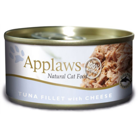 Applaws Tuna Fillet & Cheese Can Adult Cat Food 70g x 24