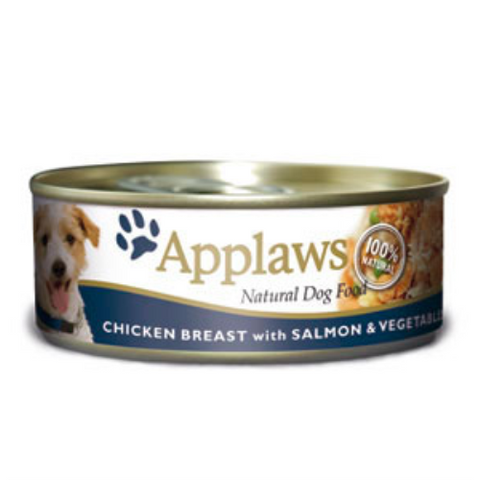 Applaws Chicken & Salmon Wet Can Adult Dog Food 156g x 6