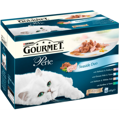 Gourmet Perle Pouch Seaside Duo Cat Food 12 x 85g