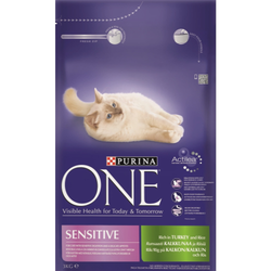 Purina ONE Turkey & Rice Sensitive Adult Cat Food 3kg