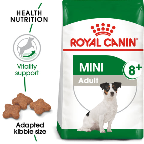 Royal Canin Mini Adult 8+ Dry Dog Food 8kg x 2