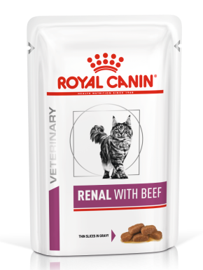 Royal Canin Veterinary Diets Renal Cat Food Pouches 85g x 48 Beef