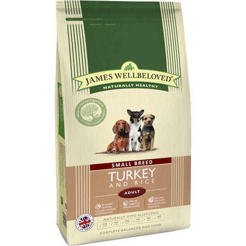 James Wellbeloved Turkey & Rice Adult Small Breed Dog Food 1.5kg