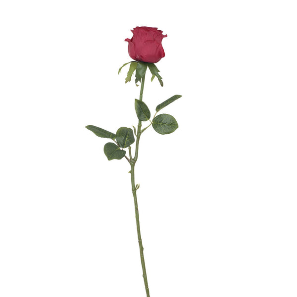 Artificial Red Rose with Prickly Stem H 60 cm