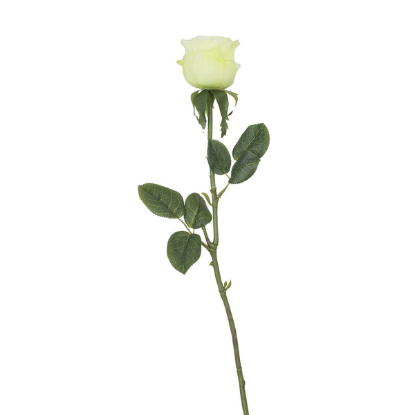 Artificial Light Green Rose with Prickly Stem H 60 cm