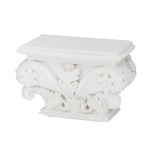 White Vintage Baroque Wall Shelf