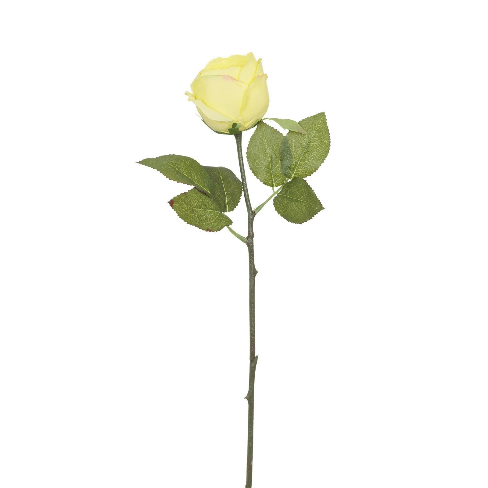 Artificial Yellow Rose with Prickly Stem H 35 cm