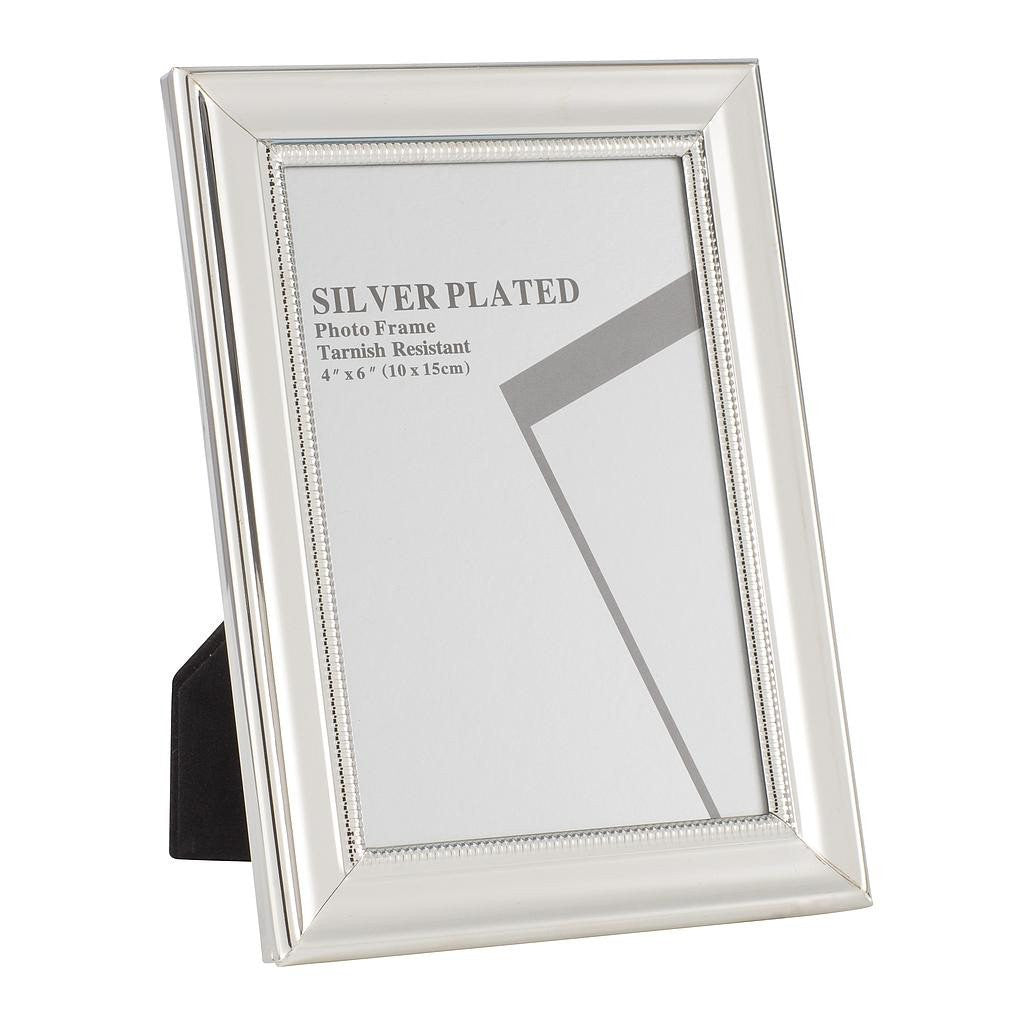Silver Plated Picture Frames, 4 x 6""