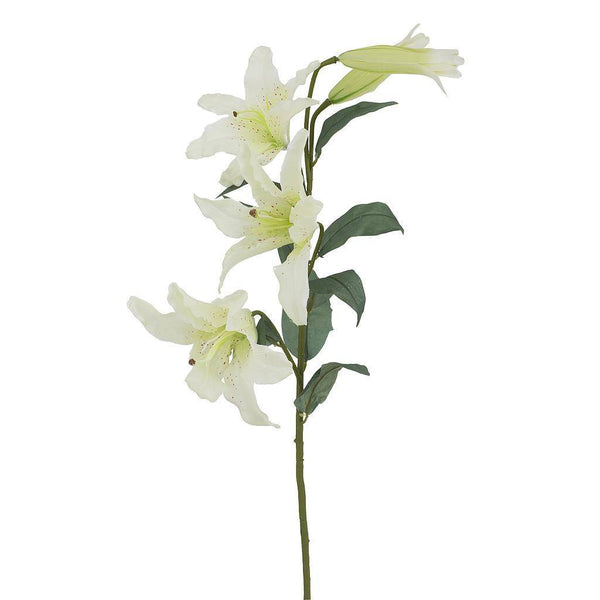 Artificial White Lily Flower - H 100 cm