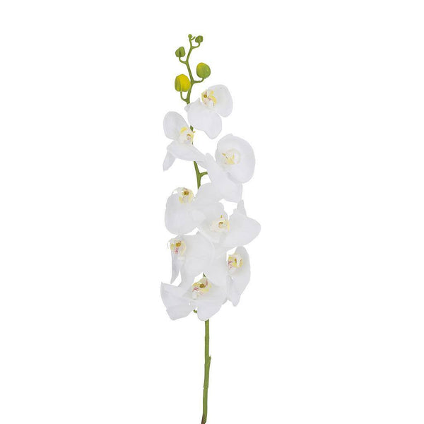 Artificial White Orchid Flower - H 100 cm