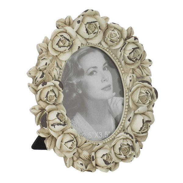 "Vintage Picture Frame 2.5 x 3.5"", Roses"