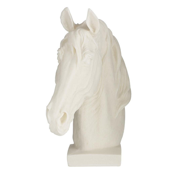 White Horse Head Sculpture