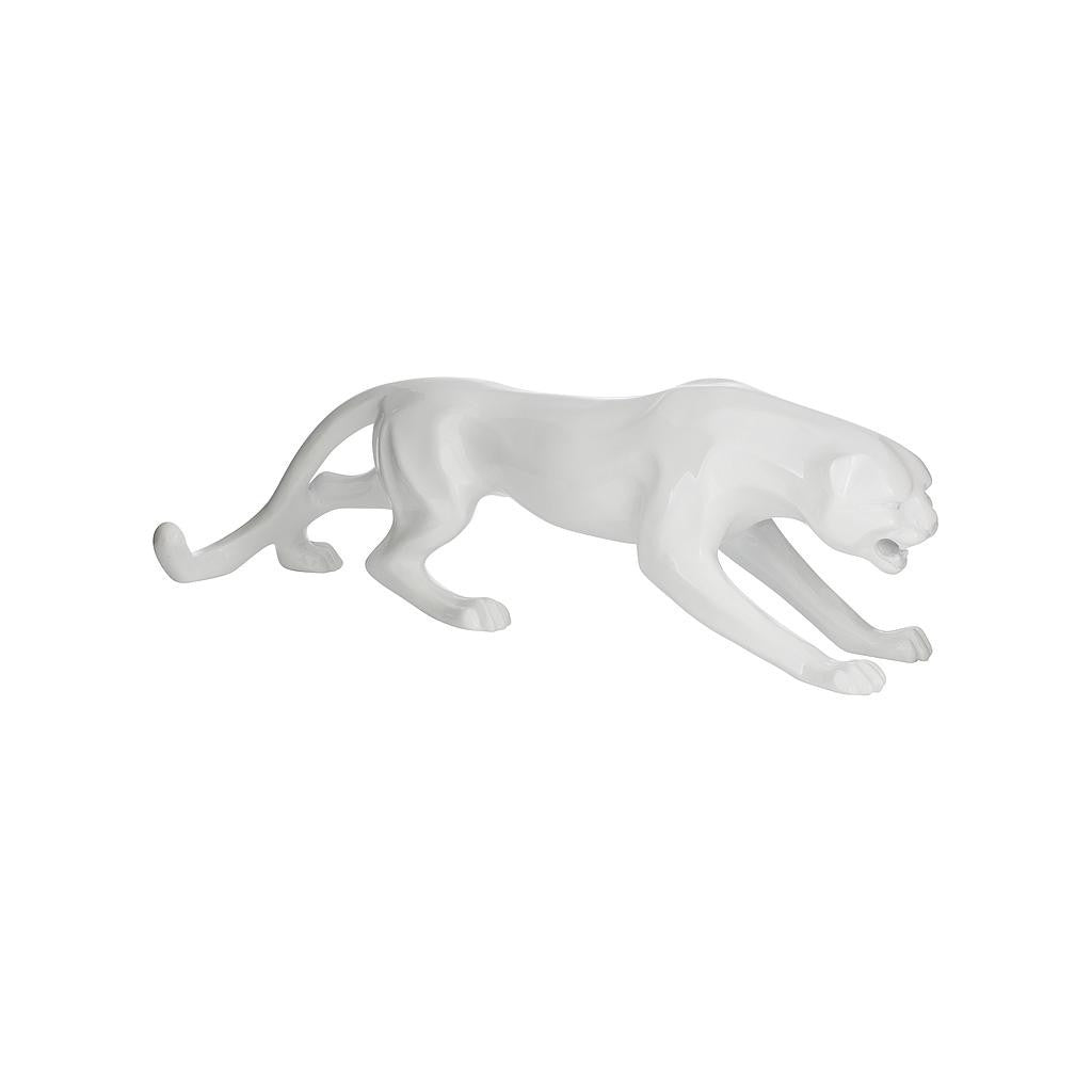 White Panther Statue