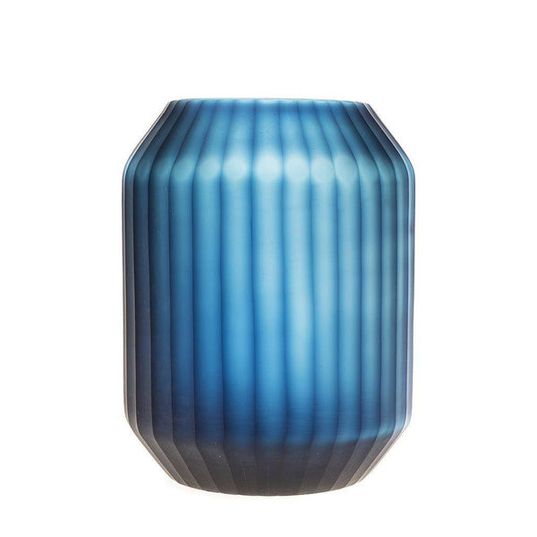 Cobalt Blue Smoke Vase - Short