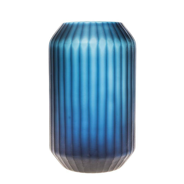 Cobalt Blue Smoke Vase - Tall