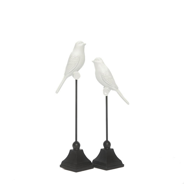White Bird Decorations - Set of 2