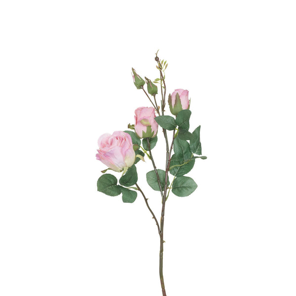 Artificial Wild Roses in Light Pink H 55 cm