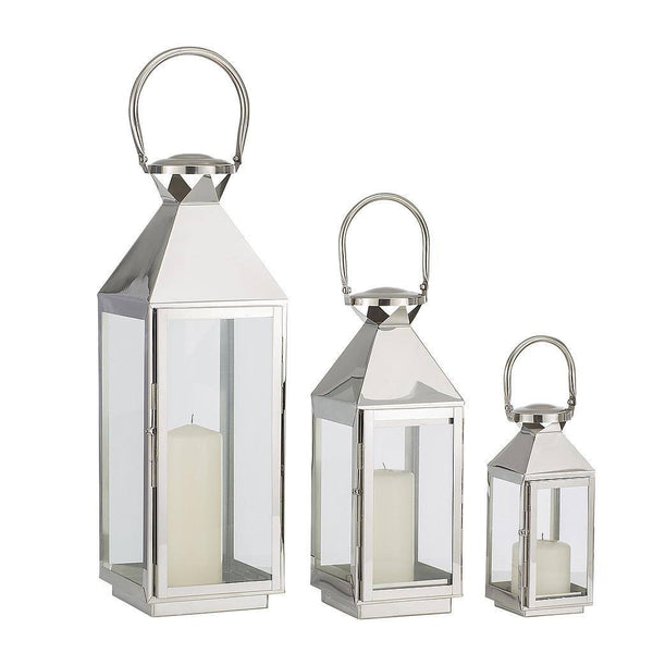 Hurricane Lanterns - Set of 3