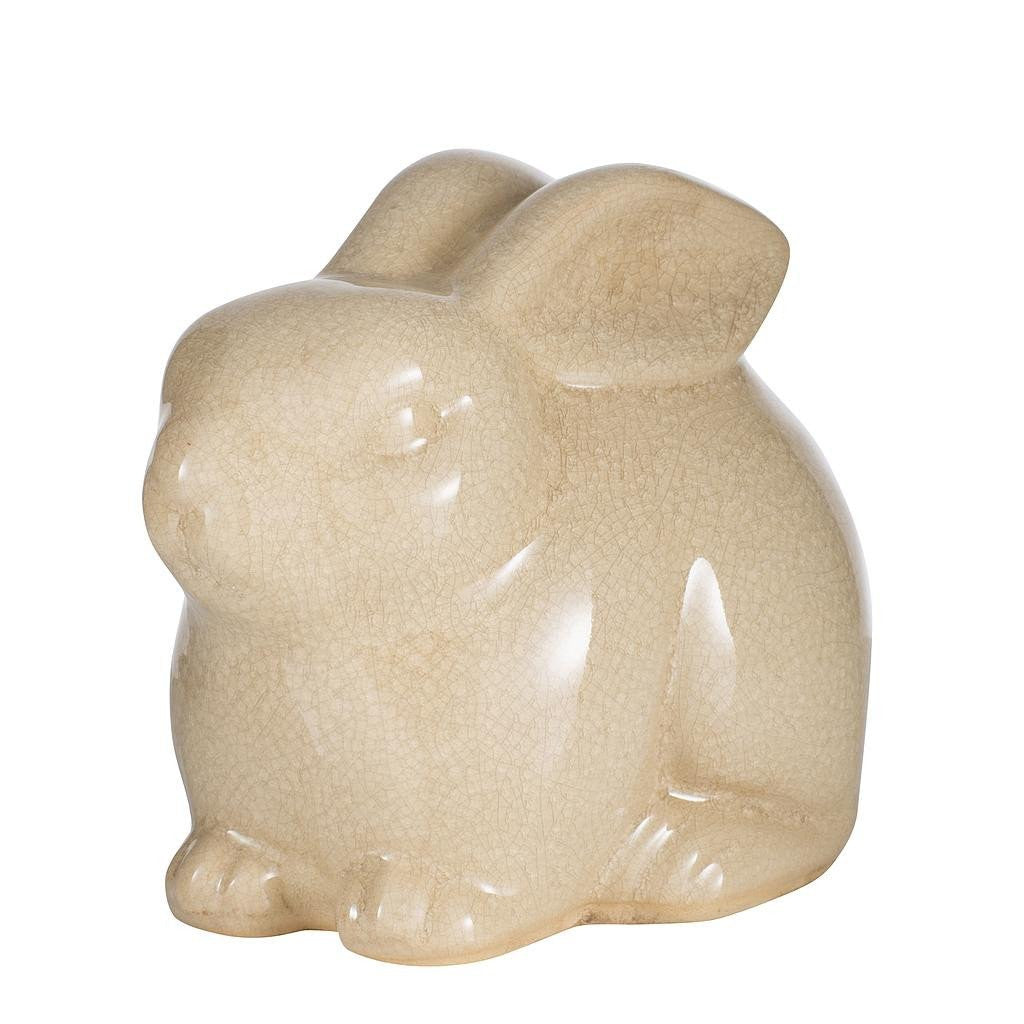 Crackle Glaze Rabbit Ornament Statue