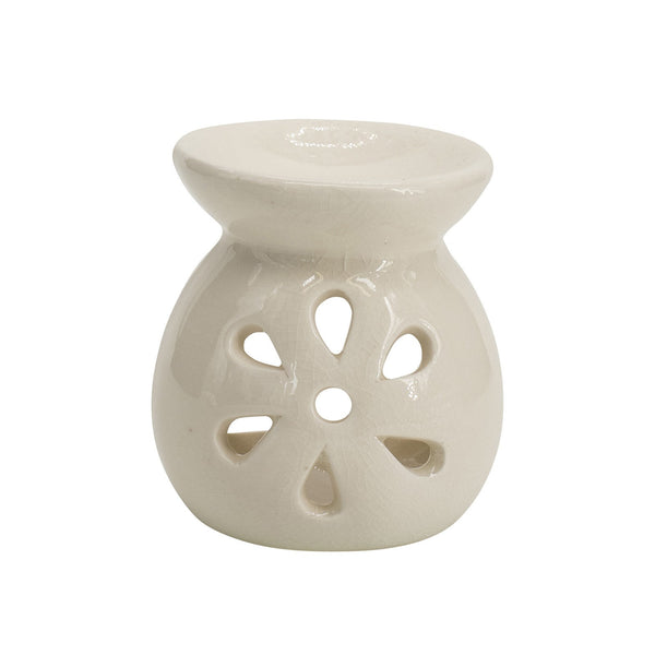Handmade Flower Oil and Wax Melt Burner H 8 cm