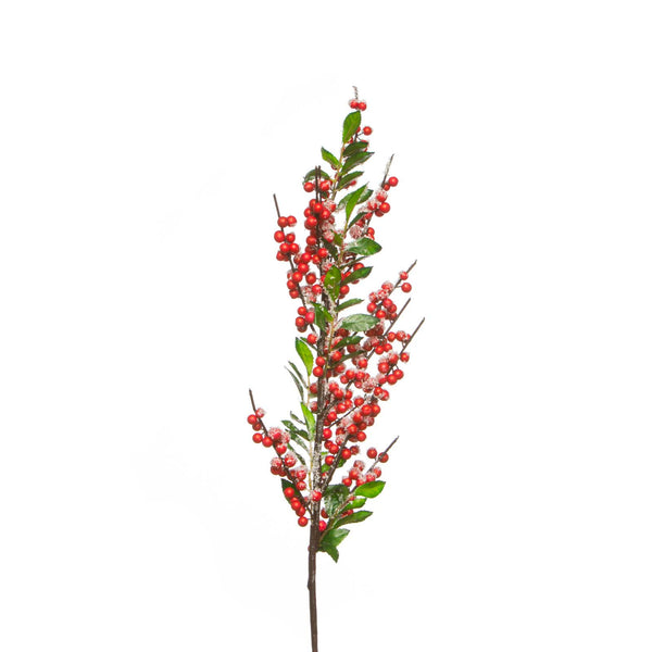 Artificial Red Christmas Berry Branch by Aufora