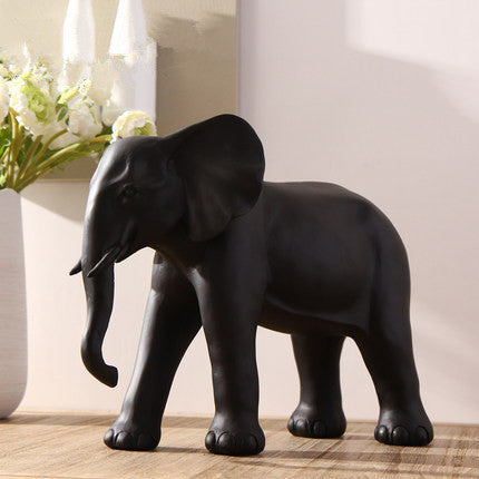 Aufora Black Elephant Ornament Sculpture 2