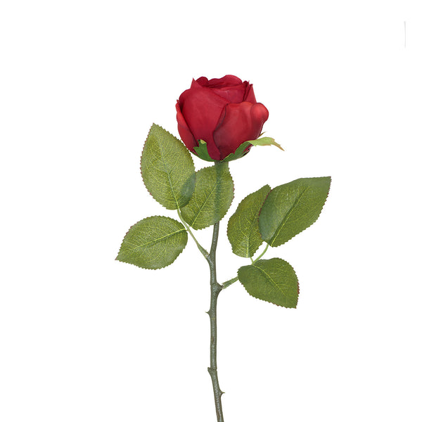 Artificial Red Rose with Prickly Stem H 35 cm