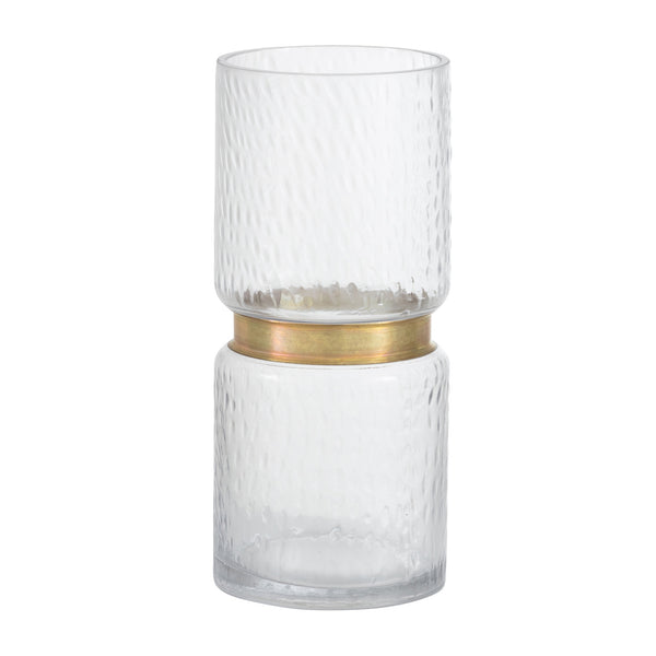 Agatha Gold Belt Glass Table Vase