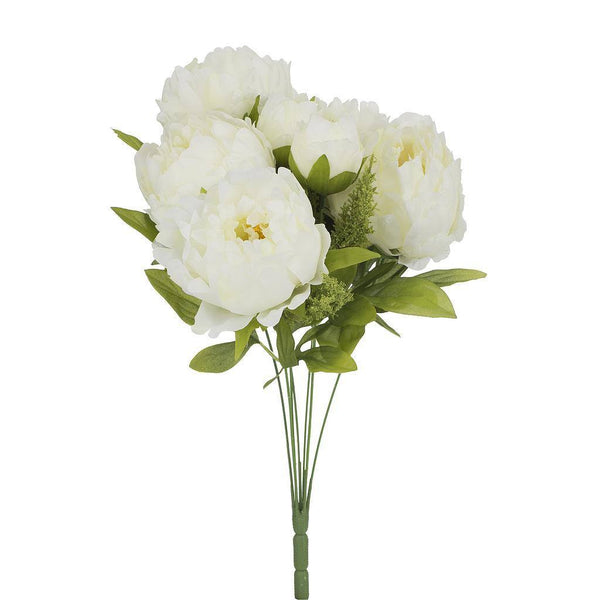 Artificial White Peonies Flower - H 45 cm