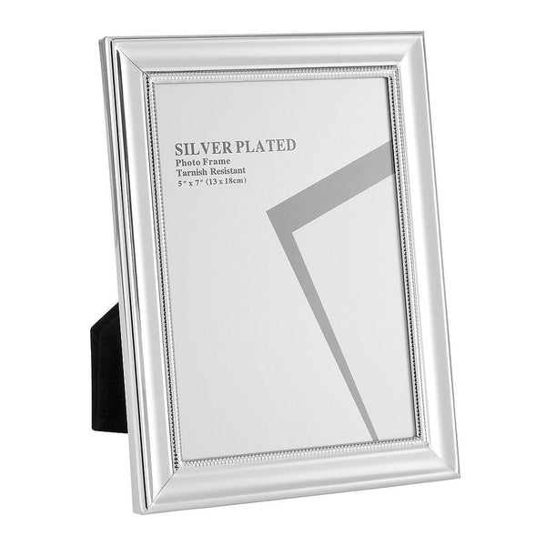 Silver Plated Picture Frames, 5 x 7""