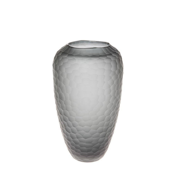 Smoke Grey Turtle Vase - Tall