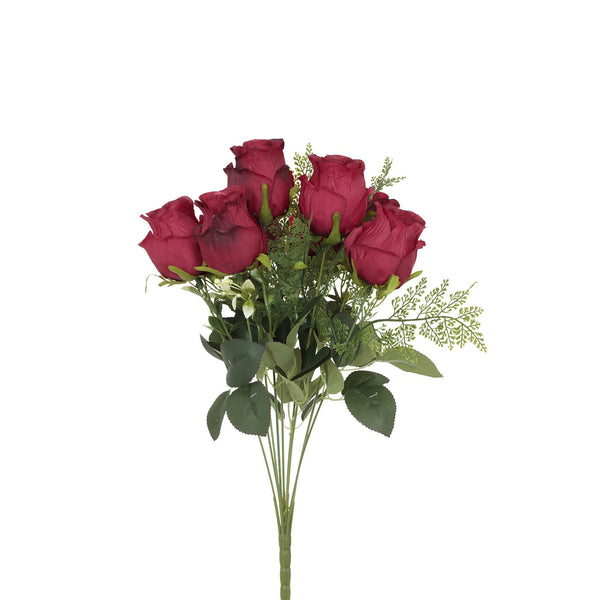 Artificial Decorative Red Roses Bouquet Bunch H 48 cm