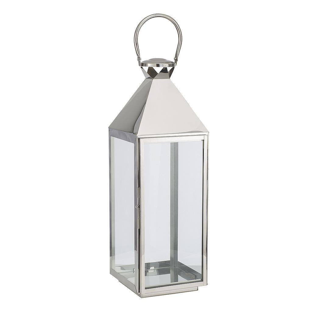 Silver Glass Hurricane Lantern
