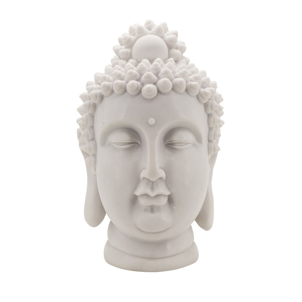 Decorative Spiritual Buddha Head Statue - Large