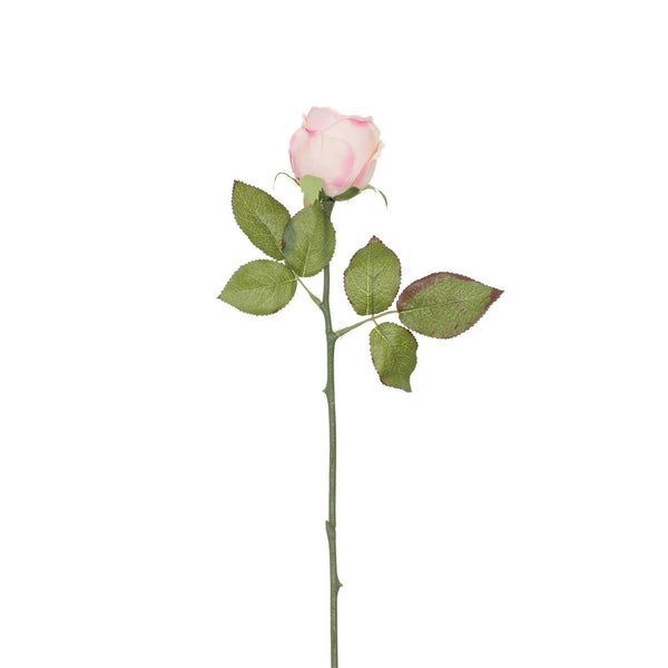 Artificial Light Pink Rose with Prickly Stem H 35 cm
