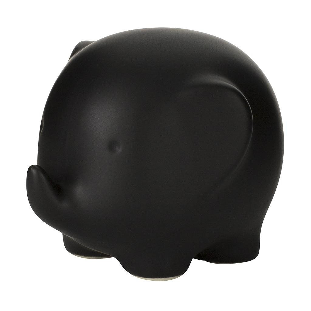 Cute Elephant Ornament Black
