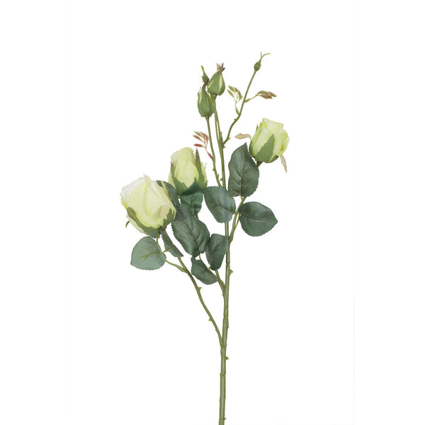 Artificial Wild Roses in Light Green H 55 cm