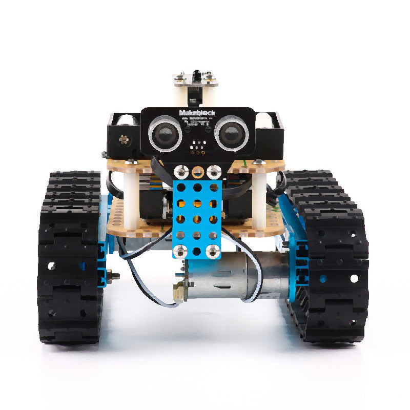 robot en kit starter-marque makeblock-bleu-workshop programmation