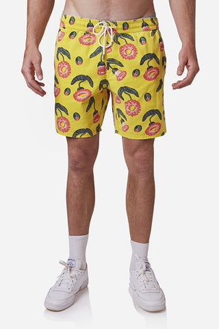 LP Trunk Shorts - Yellow/Floral