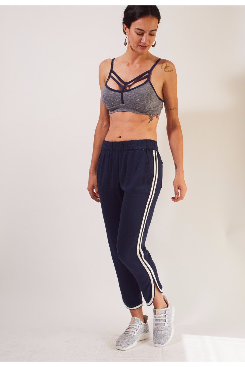 Kelly Bralette - Navy/Grey