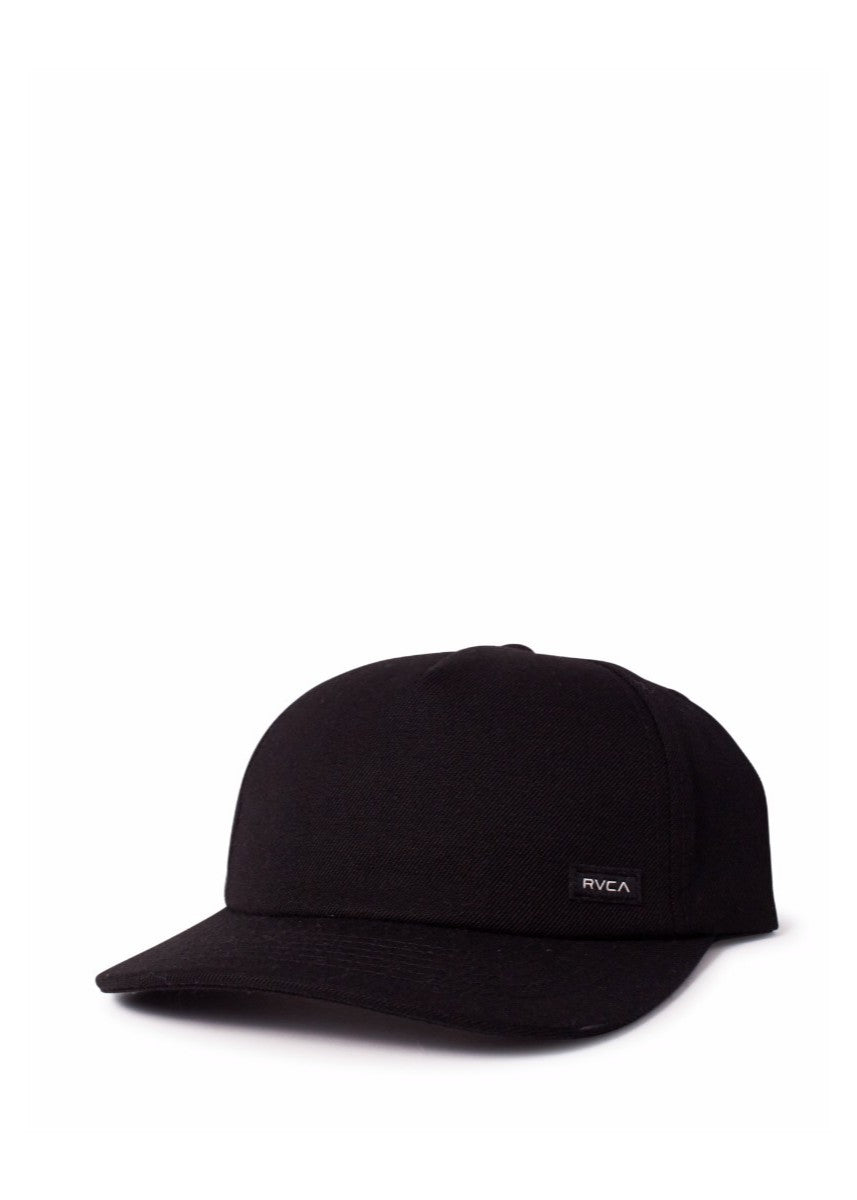 Plain Ball Snapback Cap - Black